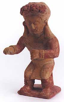 Jama Coaque Terracotta Sculpture of a Dancing Shaman
