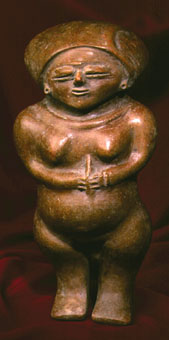 Chorrera Terracotta Sculpture of a Woman