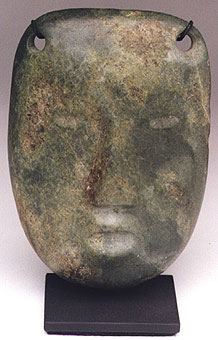 Colima Carved Stone Funerary Mask