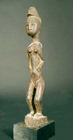 Baule Sculpture of a Standing Woman