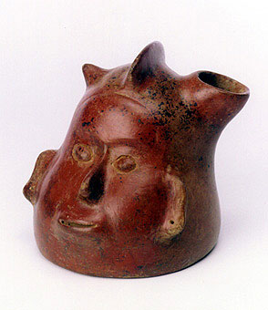 Colima Vessel in the Form of a Shaman's Head