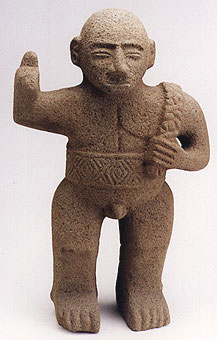 Basalt Standing Male Figure