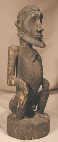 Dogon Wooden Sculpture of a Seated Man