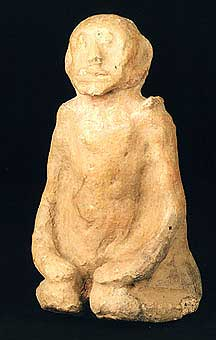 Djenne Terracotta Sculpture of a Kneeling Man