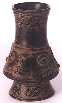 Vessel in the Form of the Head of a Saurian Deity
