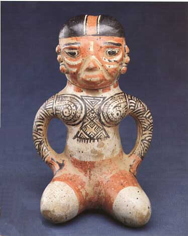 Polychrome Terracotta Female Figure