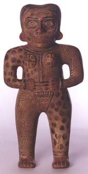Galo Polychrome Standing Female Figure