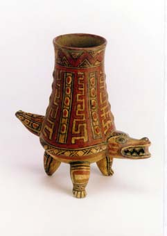 Crocodile Effigy Vessel
