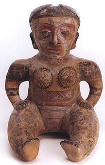 Terracotta Sculpture of a Seated  Woman