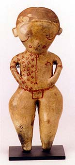 Chinesco Style (Type C) Nayarit Terracotta Sculpture of a Standing Woman