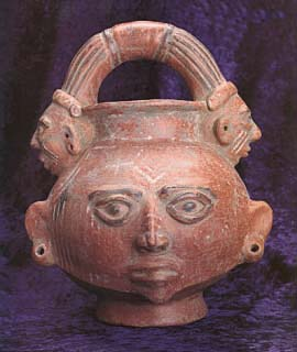 Terracotta Trophy Head with a Handle