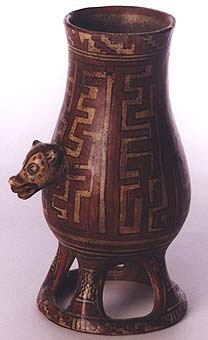 Painted Jar with an Animal Head