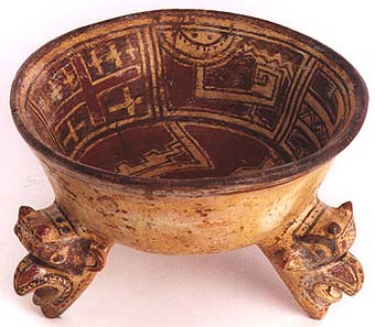 Bowl with Three Caryatid Rattle Legs