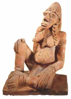 Djenne Terracotta Sculpture of a Seated Woman
