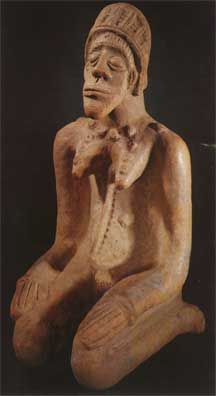 Djenne Terracotta Sculpture of a Kneeling Woman