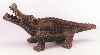 Terracotta Sculpture of a Crocodile
