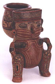 Squatting Figure Carrying Vessel