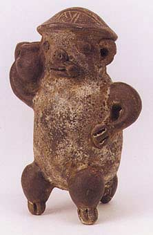 Guanacaste Sculpture of a Monkey Carrying a Vessel