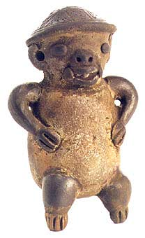 Guanacaste Sculpture of a Monkey