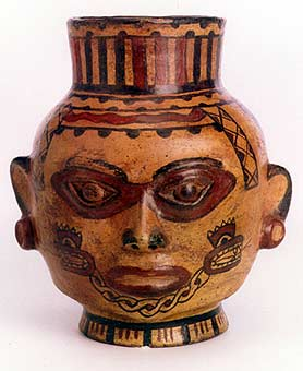 Terracotta Polychrome Trophy Head