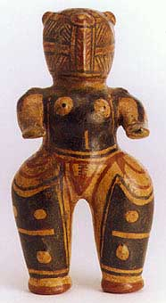Terracotta Polychrome Standing  Figure