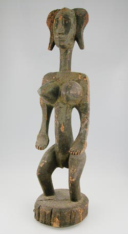 Bambara Wooden Dyonyeni Sculpture of a Woman