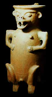 Vessel in the Form of a Saurian Deity