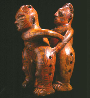 Terracotta Sculpture of Homosexual Copulating Couple