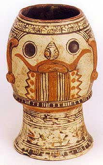 Guanacaste-Nicoya Vessel Depicting the Head of Tlaloc