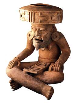 Veracruz Terracotta Incencario Depicting the Fire God Huehueteotl