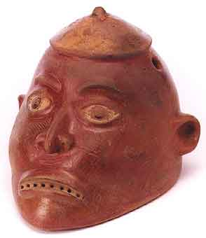 Redware Trophy Head
