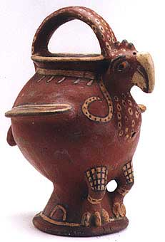 Polychrome Vessel in the Form of a Buzzard