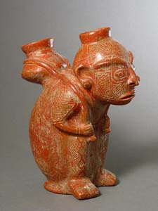 Vessel in the Form of a Man Carrying a Basket on his Back