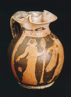 Apulian Red-Figure Trefoil-Lipped Oinochoe