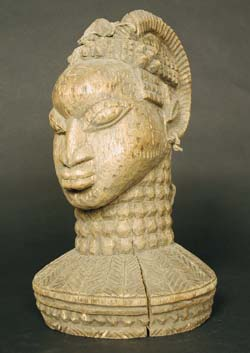 Yoruba Wooden Headcrest of a Woman