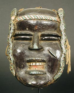 African Art / Ivorian Wooden Polychrome Mask