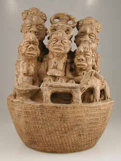 Igbo Terracotta Sculpture of a Family Group