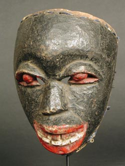 Ibibio Wooden Polychrome Face Mask