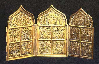 Russian Brass Traveling Icon