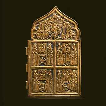 Section of a Brass Traveling Icon