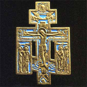 Enameled Brass Cross