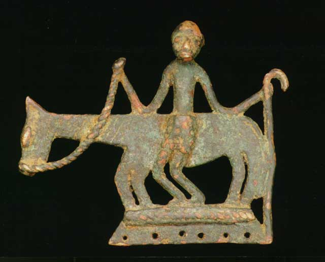Djenne Bronze Sculpture of a Man and a Horse