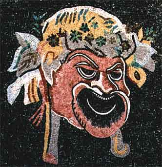 Roman Mosaic Depicting a Theatrical Mask