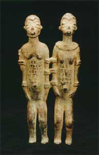 Dogon Bronze Sculpture of an Ancestral Couple