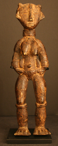 Dan Bronze Statuette of a Standing Woman