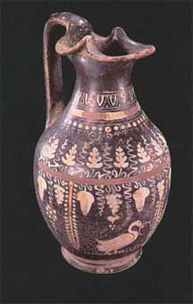 Gnathian Polychrome Oinochoe with High Handle