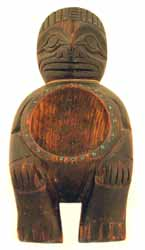 Northwest Coast Wooden Anthropomorphic Bowl