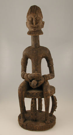 Dogon Sculpture of a Seated Man
