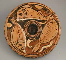 Apulian Red-Figure Fish Plate