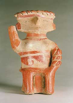 Michoacan Sculpture of a Seated Woman